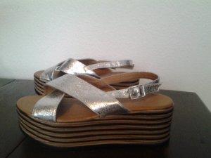 Sandalo con plateau multicolore Fibra sintetica