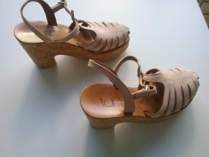 KJaques Sandales à talons hauts et plateforme vieux rose