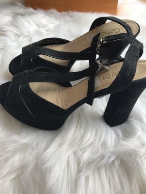 Gabor Platform High-Heeled Sandal black