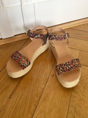 Topshop Plateauzool sandalen veelkleurig Textielvezel