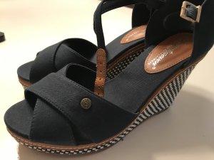 Platform High-Heeled Sandal dark blue