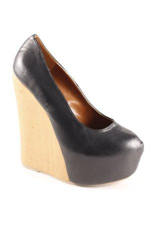 Plateau-Sandalen schwarz Elegant