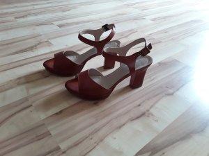 Kiomi Sandalo alto con plateau marrone-rosso