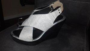 Venezia Platform Sandals light grey leather