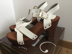 High-Heeled Sandals white-cognac-coloured