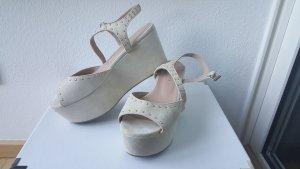 Twin set Platform Sandals cream