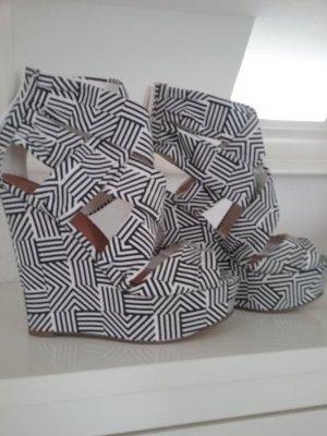 Asos Platform High-Heeled Sandal white-black