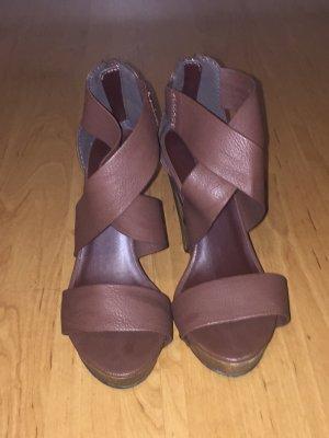 Pimkie Platform High-Heeled Sandal brown