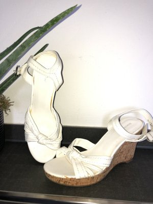 Platform High-Heeled Sandal white-brown