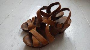 Sandalo con cinturino cognac Pelle