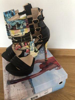 Sergio Todzi Plateauzool Sandalen met Hoge Hakken veelkleurig kunststof