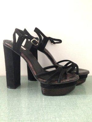Plateau Sandaletten aus echtem Leder von H&M, Gr. 39, ungetragen