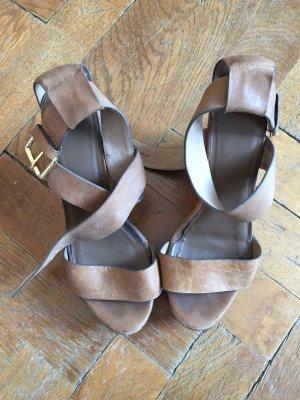 Plateau-Sandaletten aus Leder