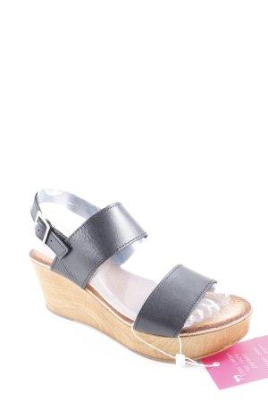 Platform High-Heeled Sandal cream-black elegant