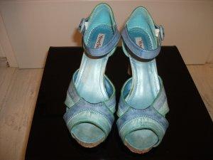 Young Spirit Platform High-Heeled Sandal turquoise-cornflower blue