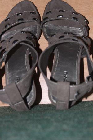 Graceland Platform High-Heeled Sandal grey brown