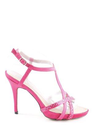 Ella Cruz Plateau-Sandaletten magenta extravaganter Stil