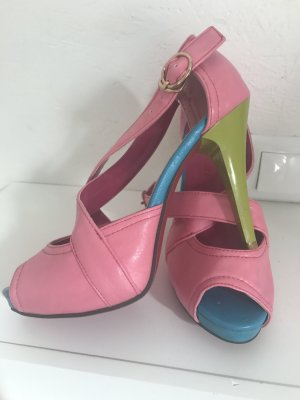 Platform High-Heeled Sandal multicolored