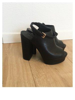 Topshop High Heel Sandal black leather