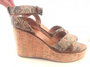 Platform High-Heeled Sandal multicolored leather