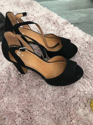 H&M Platform High-Heeled Sandal black