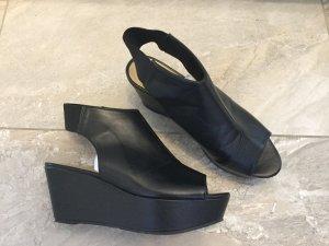 H&M Platform High-Heeled Sandal black imitation leather