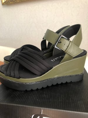 Sixtyseven Platform High-Heeled Sandal black-green grey mixture fibre