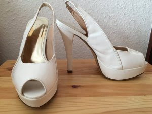 Catwalk Platform High-Heeled Sandal white