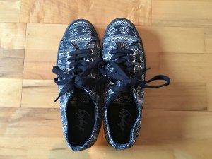 Lace Shoes black-white