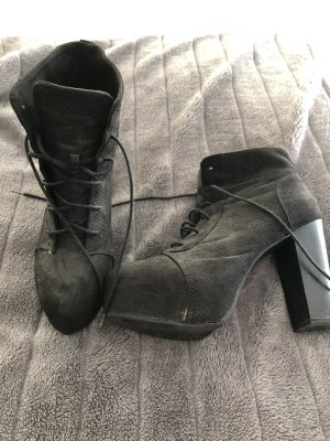 H&M Lace-up Booties black
