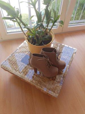 Plateau Schuhe mit Holzabsatz