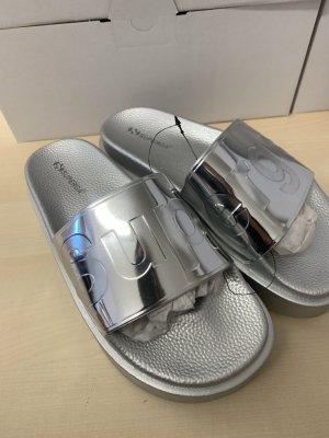 Superga Platform Sandals silver-colored