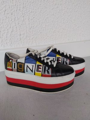 Aigner Lace-Up Sneaker multicolored leather