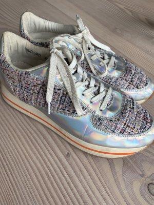 Plateau Sneaker Halbschuh Miss Behave Gr. 40 Hologramm