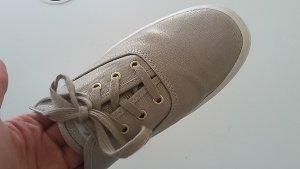 Plateau-Sneaker Keds Gold-Metallic weiße Sohle