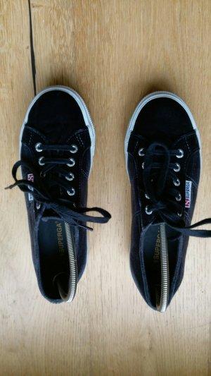Plateau Sneaker Superga aus Samt