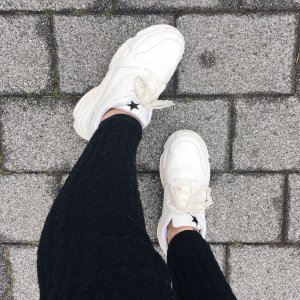 Plateau Sneaker weiß Fashion Fashionista Streetstyle
