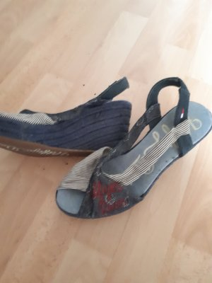 Plateau Sommerschuhe TH Jeansstoff