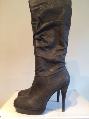 Platform Boots anthracite imitation leather