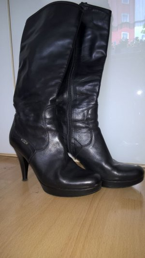 Platform Boots black leather