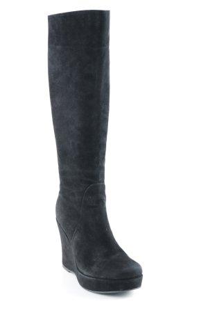 Plateau-Stiefel schwarz Elegant