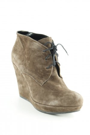 Keil-Stiefeletten taupe Casual-Look