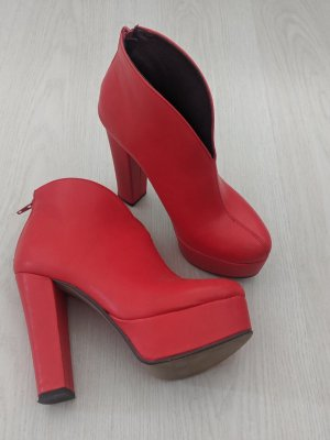 Ankle Boots red-carmine
