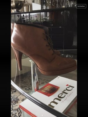 Bruno Premi Platform Booties brown leather