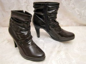 Plateau Stiefelette Hot Ankle Boots 38 Lack Pumps 80-er Party