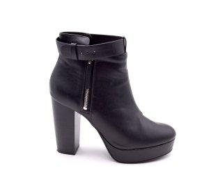 H&M Divided Bottines à plateforme noir faux cuir