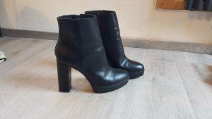H&M Bottines à plateforme noir faux cuir