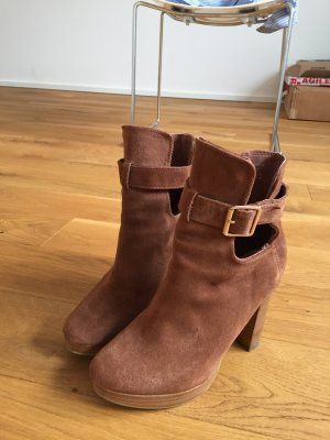 Plateau Stiefeletten H&M in Wildleder Optik braun