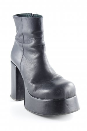 Plateau-Stiefeletten schwarz extravaganter Stil