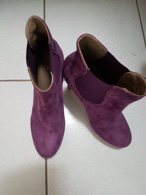 Plateau Stiefletten von NOE, Wildleder violett# wie neu#